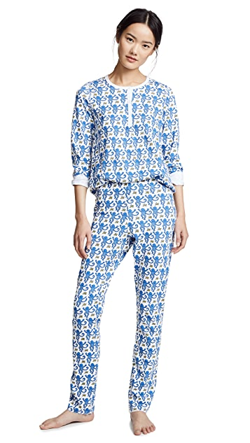 Roller Rabbit Monkey PJ Set