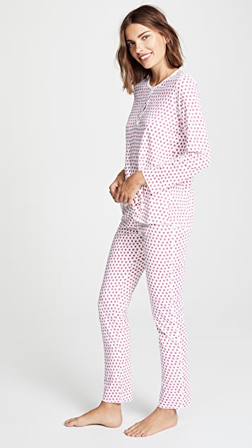 Roller Rabbit Hearts PJ Set