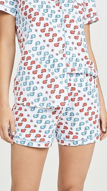 Roller Rabbit Moby 星星马球衫睡衣套装