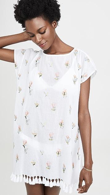 Roller Rabbit Туника Nama с цветочной вышивкой