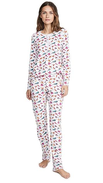 Roller Rabbit Пижама Funny Birds