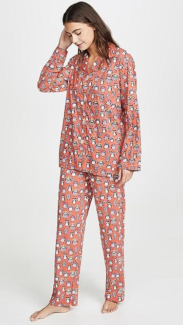 Roller Rabbit Owlighans Loungewear Set