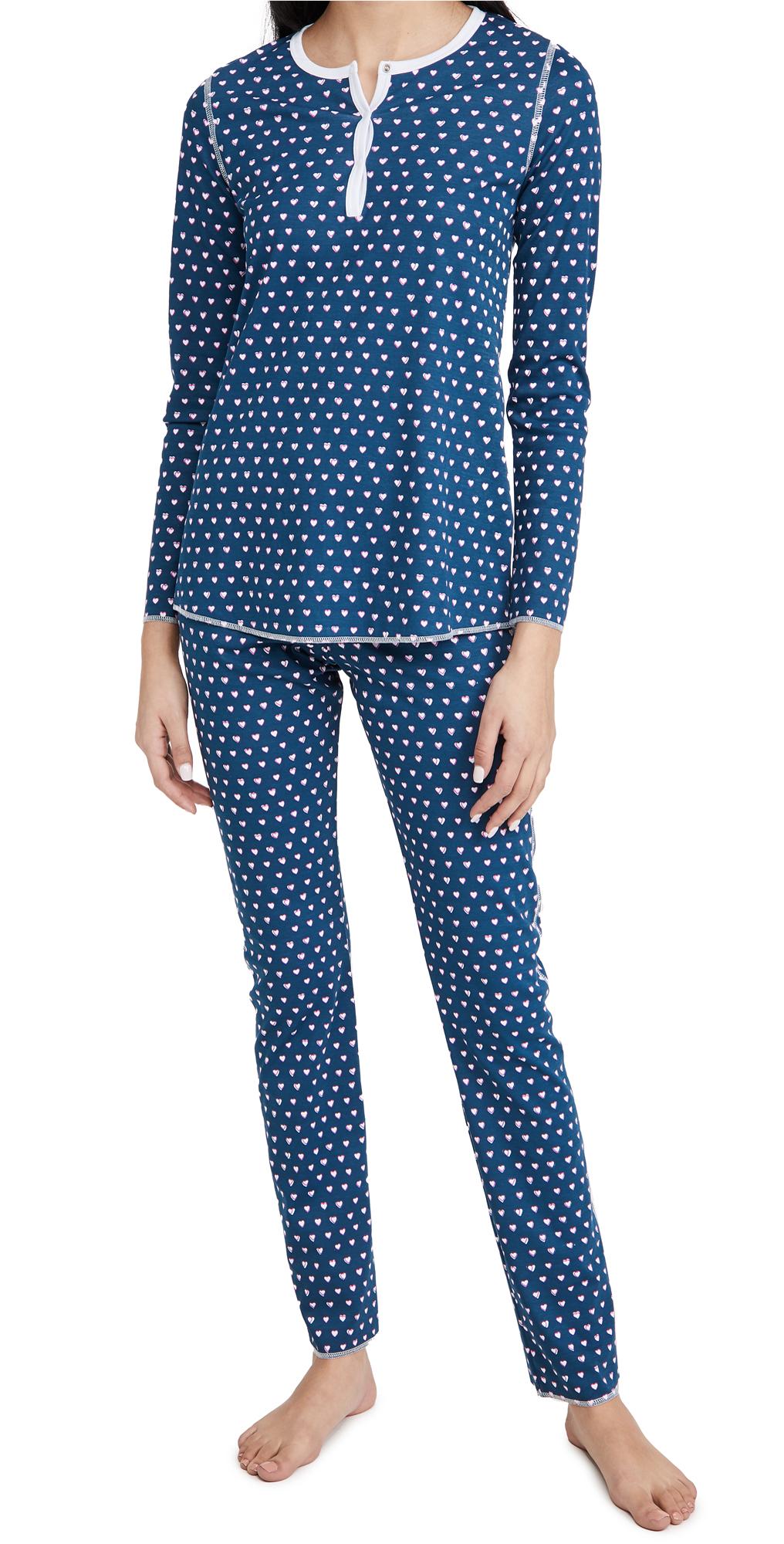 Roller Rabbit Hearts Pajamas Set