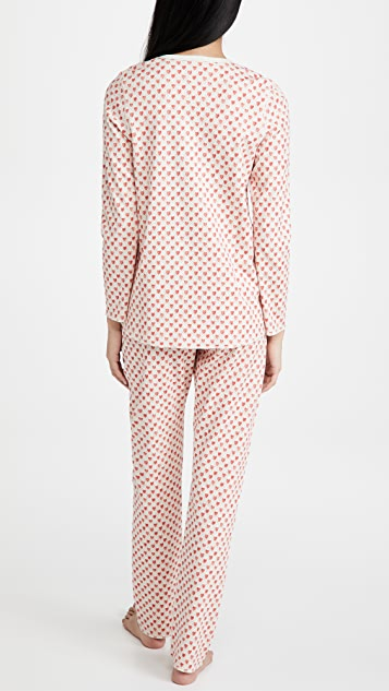 Roller Rabbit Quilted Hearts Pajamas
