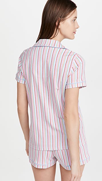Roller Rabbit Party Stripe Polo Pajama Set