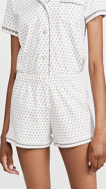 Roller Rabbit Hearts Polo Pajama Set