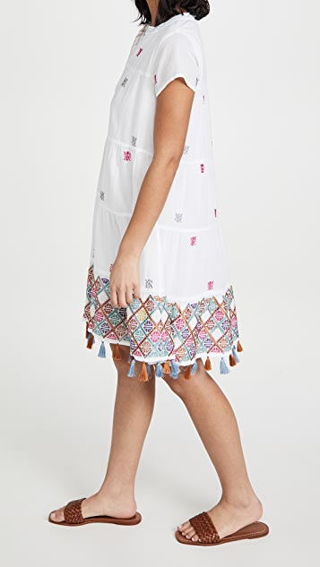 Roller Rabbit Kurtoe Pamela 刺绣连衣裙