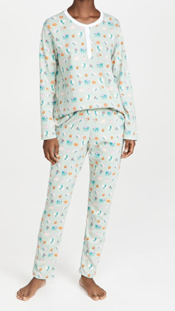Roller Rabbit Pumpkin Spice Pajamas