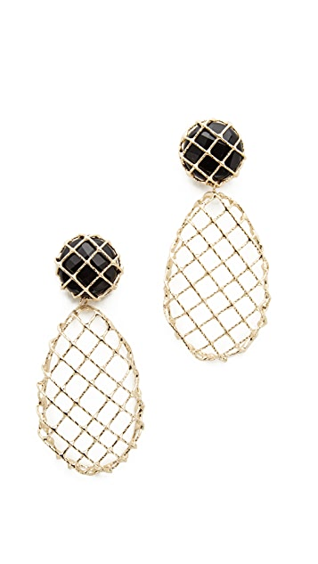 Rosantica Caged Teardrop Earrings