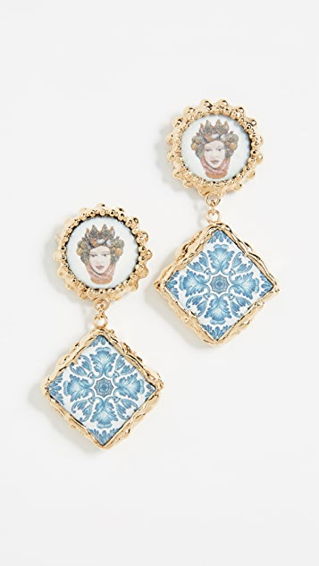 Rosantica Ciucciue Stud Earrings - Gold