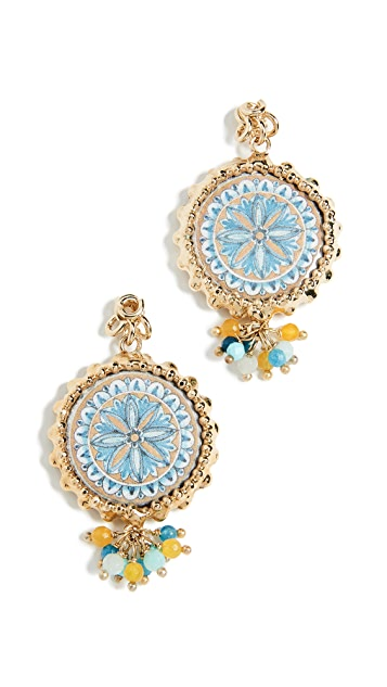 Rosantica Ciucciue Beaded Stud Earrings