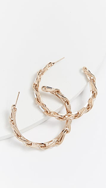 Rosantica Slim Hoop Earrings