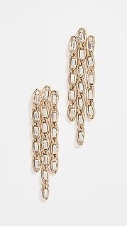 Rosantica 纤薄枝形吊灯耳环