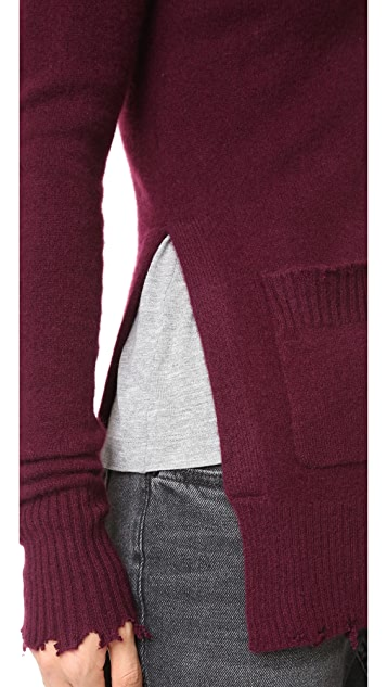 RtA Andre Destroyed Cashmere Cardigan