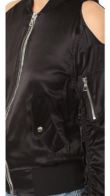 RtA Jester Cold Shoulder Bomber Jacket