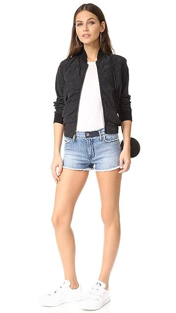 RtA Olivia High Waist Denim Shorts