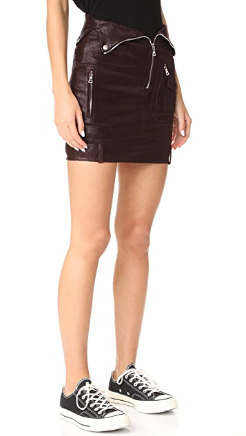 RtA Gisele Leather Skirt