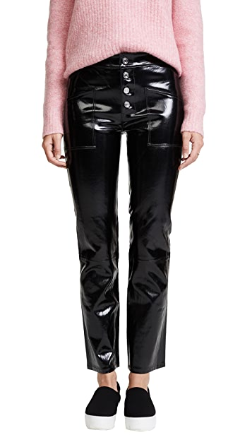 RtA Theadora Patent Leather Pants