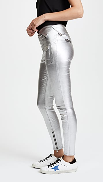 RtA Diavolina Metallic Leather Pants