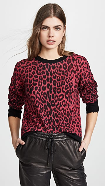RtA Emma Sweater - Red Leopard Knit