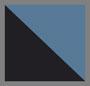 синий блестящий в технике узелкового батика 2