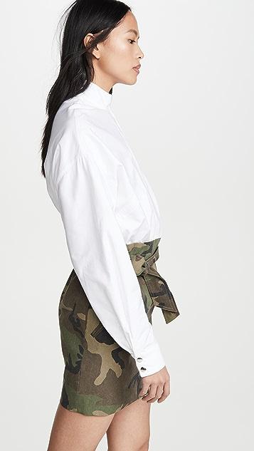 RtA Niccola 拉链衬衫系腰带半身裙组合