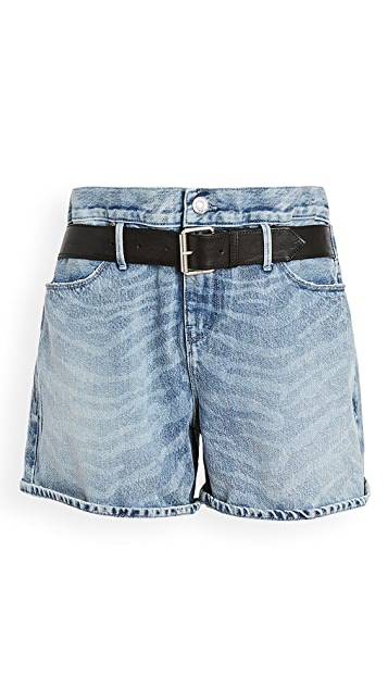RtA Pierce-Belted Baggy Shorts