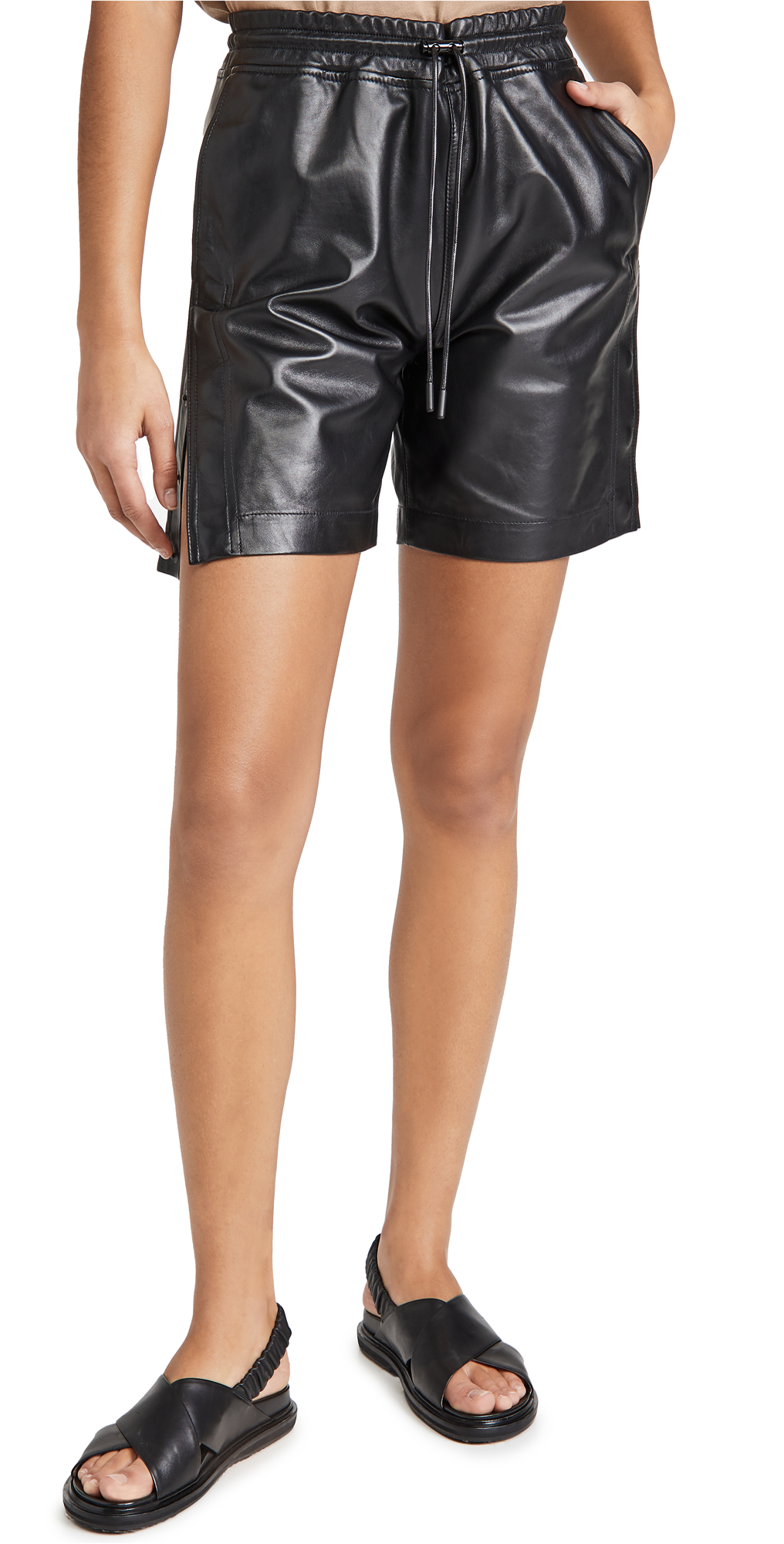 RtA Camden Leather Shorts