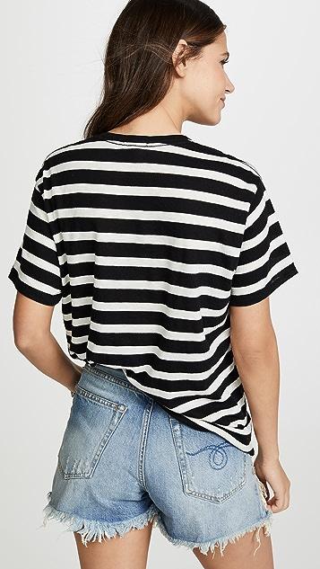 R13 Полосатая футболка в стиле «бойфренд»