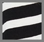 Black w/ White Judy Stripe