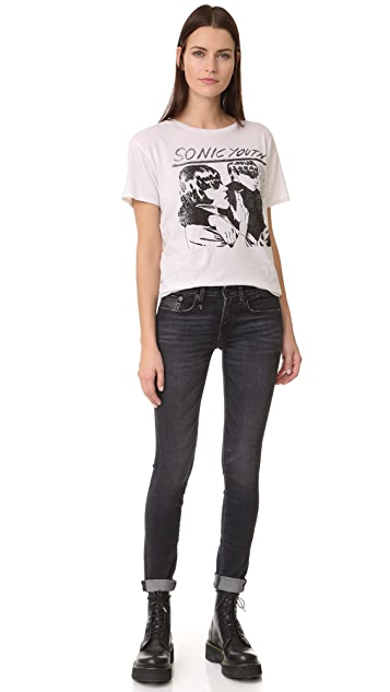 R13 The Alison Mid Rise Ankle Skinny Jeans