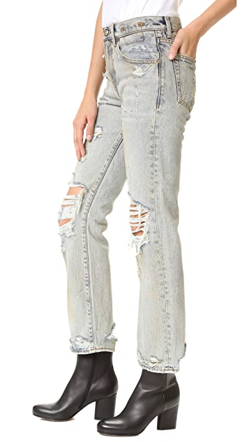 R13 Catherine Relaxed Straight Leg Jeans