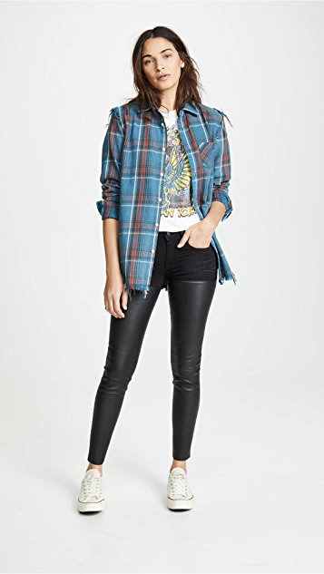 R13 Кожаные джинсы Chaps