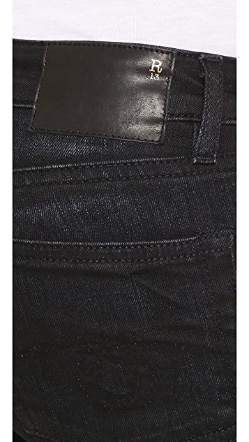 R13 The Jenny Mid Rise Skinny Jeans