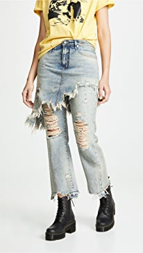Double Classic Skirted Jeans