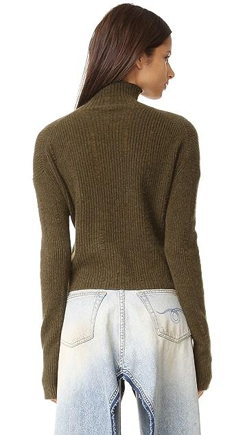R13 Cashmere Rib Turtleneck Sweater