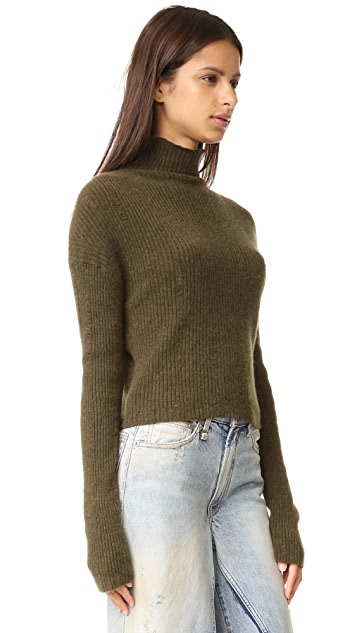 R13 Cashmere Rib Turtleneck Sweater