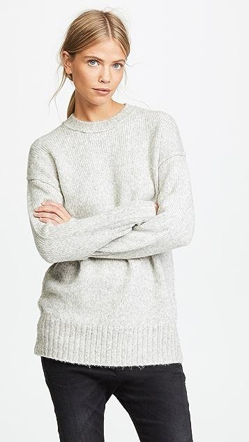 R13 超大圆领毛衣