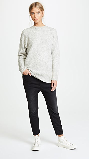 R13 Oversized Crew Neck Sweater