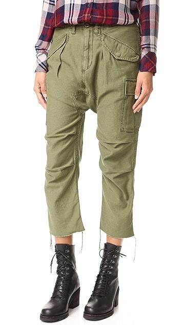Mens Harem Camouflage Cotton Cargo Pants R13 fG3JPdx