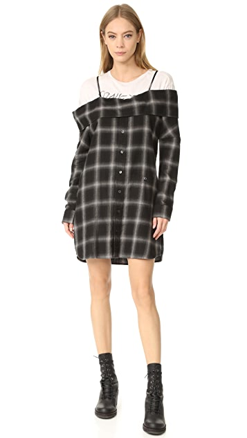 R13 Slip Shirtdress