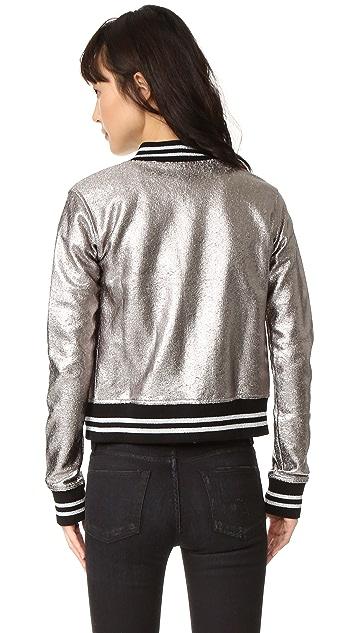 R13 Shrunken Metallic Jacket
