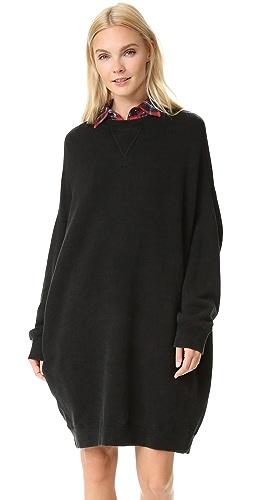 R13 - Grunge 运动衫连衣裙
