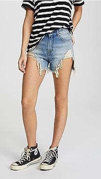 Shredded Slouch Shorts