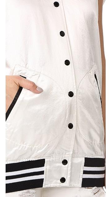 R13 Sleeveless Varsity Vest