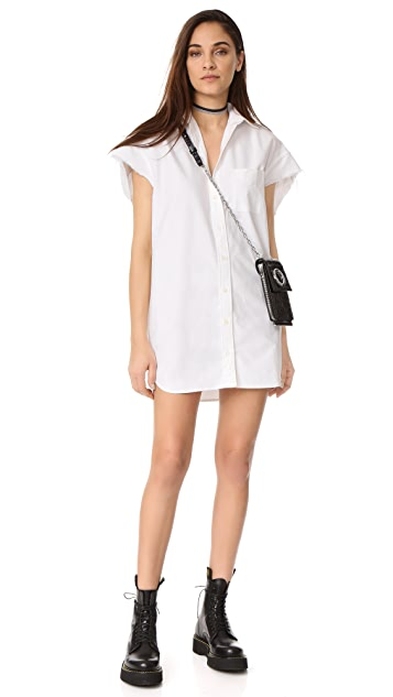 R13 Oversized Sleeveless Oxford Shirt Dress