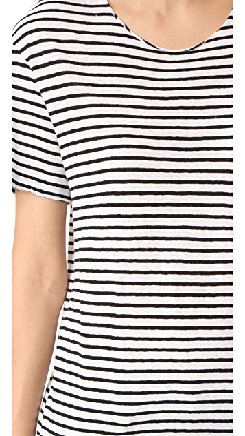 R13 Striped Rosie Tee