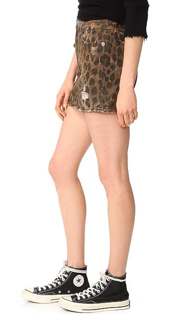 R13 High Rise Miniskirt