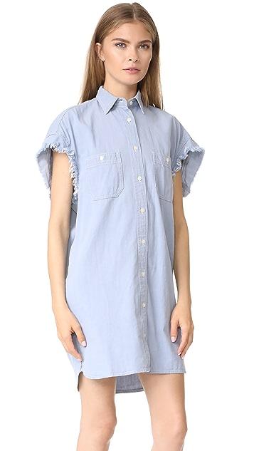 R13 Oversized Sleeveless Chambray Dress