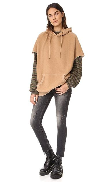 R13 Camel Cut Sleeve Hoodie